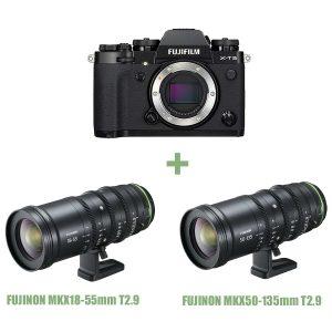 Fujifilm X-T3 – MK X18-55mm T2.9 – MK X50-135mm T2.9 Sconto in cassa 1.000 Euro