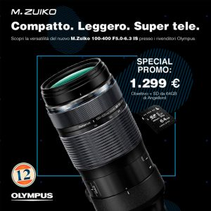 Olympus M.Zuiko Digital ED 100-400mm F5-6.3 IS – Garanzia Polyphoto – ( disponibile )