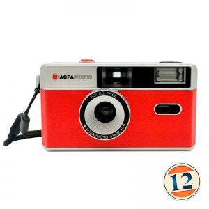 Agfa 35mm Riutilizzabile Fotocamera – Nero/Rosso