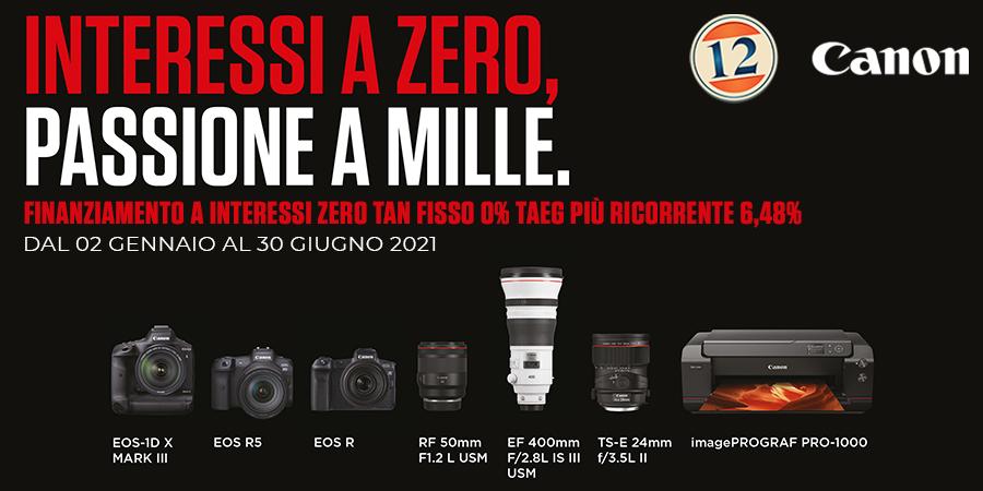Canon Interessi 0, Passione a 1000