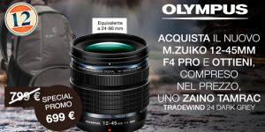 Olympus M.Zuiko Digital ED 12-45mm – Zaino in Omaggio