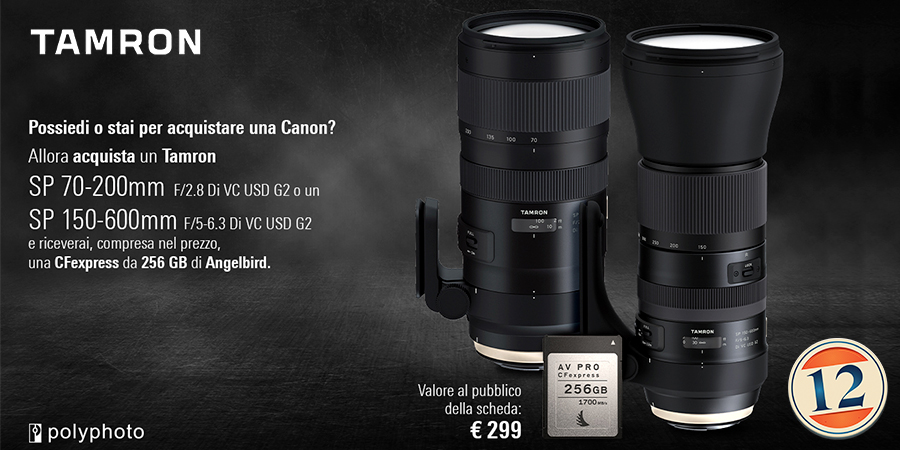 TAMRON 70-200mm/2.8 VC G2 – 150-160mm/5.0-6.3 VC G2 con Canon