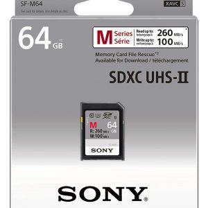 Sony Memoria SD-XC 64 / 128 / 256GB Serie M, Lettura 277 MB/s, Scrittura 150 MB/s