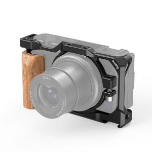 SmallRig Cage con Handgrip in legno per Sony ZV1