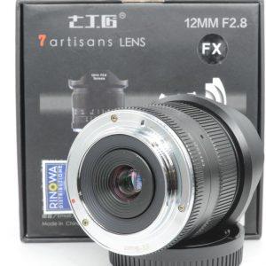 7artisans 12mm f/2.8  APS-C X Canon M FujiFilm e Sony