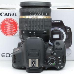 Canon 700D con 17/50 VC f 2,8